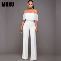MUXU white jumpsuit body sexy jumpsuits for women europe and the united states jumpsuits body suits for women bodysuits romper