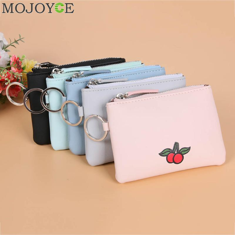 Women PU Leather Coin Purses Fruit Printed Short Small Change Money Bags Wallet Card Coin Holder Case Clutch Purse Mini Pouch cute cats coin purse pu leather money bags pouch for women girls mini cheap coin pocket small card holder case wallets