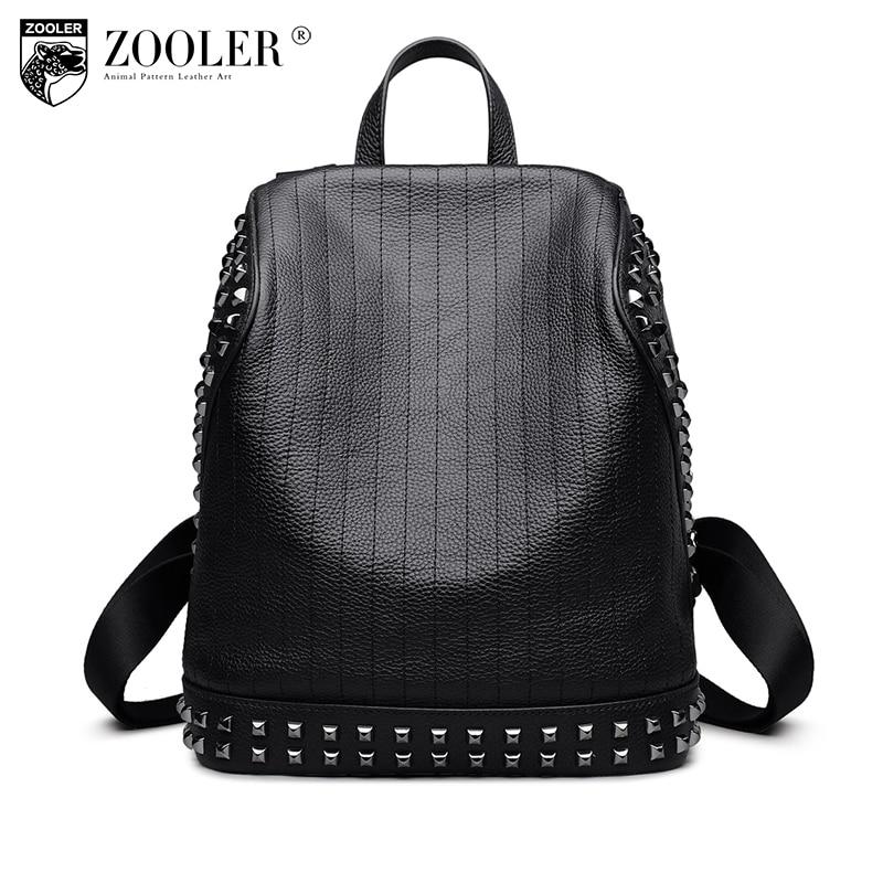 ZOOLER genuine leather backpack men/boy 2018 new gentlemen style backpacks real leather Brand large capacity bag #6195 ремни lee ремень gentlemen