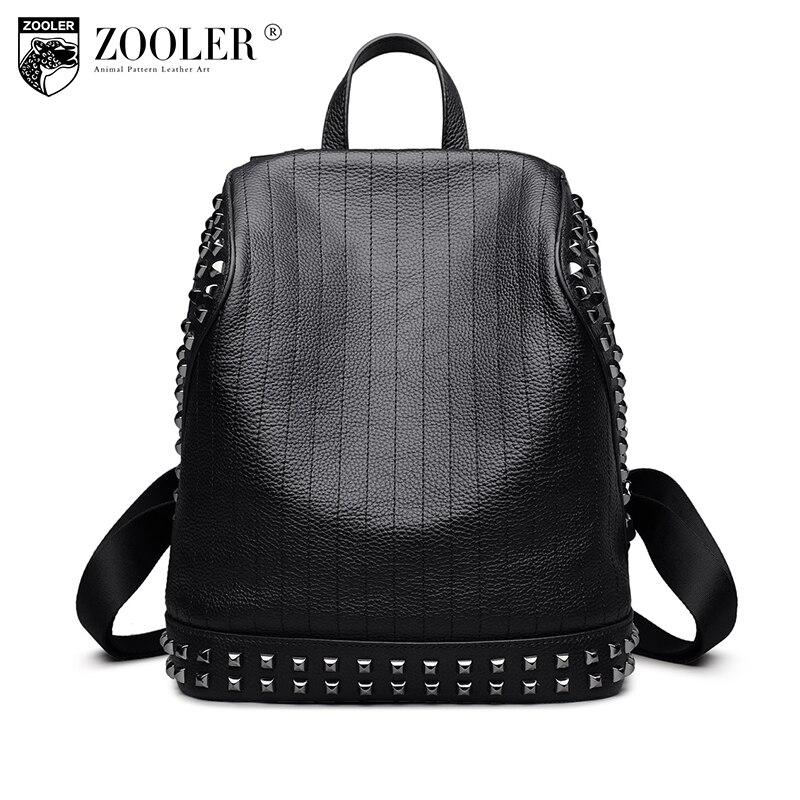ZOOLER genuine leather backpack men/boy 2018 new gentlemen style backpacks real leather Brand large capacity bag #6195