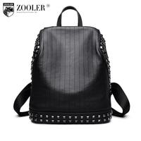 Zooler натуральная кожа рюкзак мужчины/мальчик 2018 Новый господа стиль рюкзаки из натуральной кожи бренд большой емкости сумка #6195
