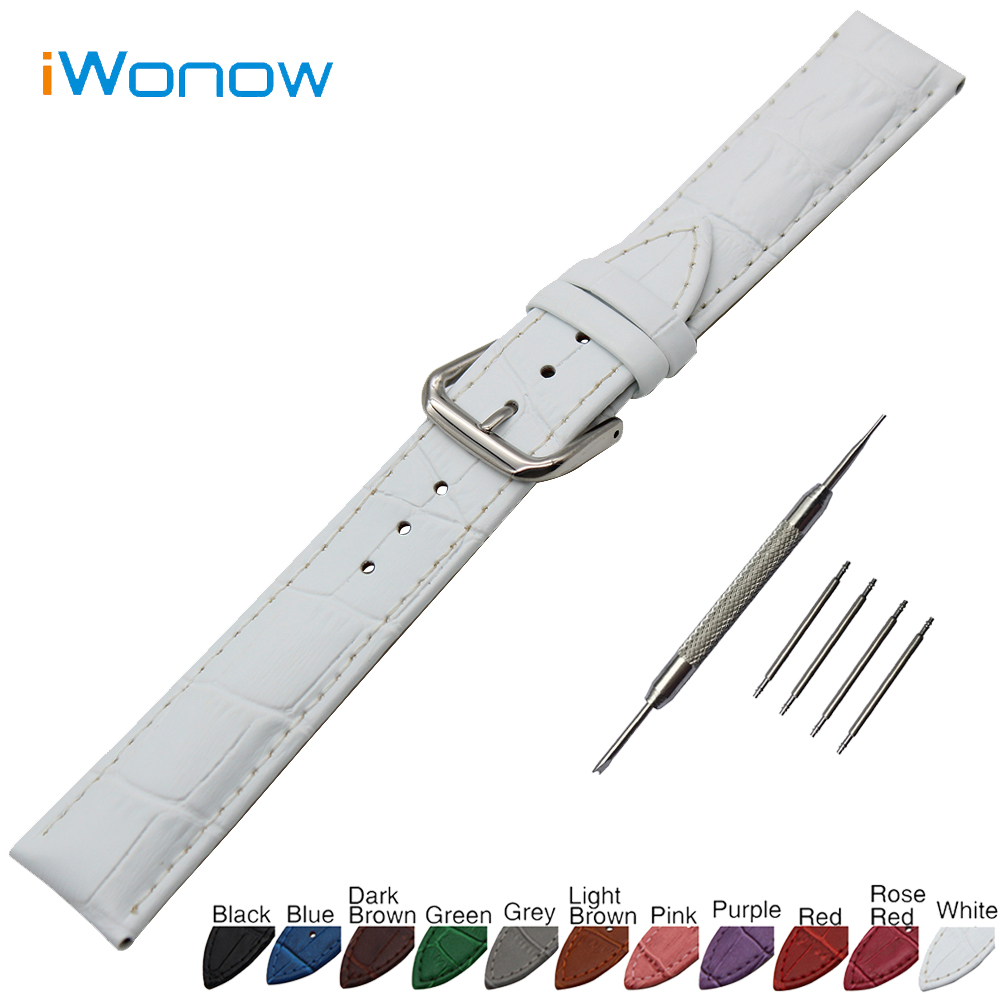 Croco Genuine Leather Watch Band 18mm 19mm 20mm 21mm 22mm 24mm Universal Watchband Stainless Steel Buckle Strap Wrist Bracelet croco pattern genuine casfskin 19mm 20mm 22mm replacement watchband watch straps for brand watch