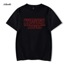 2018 New Stranger Things T-shirt men/women Black Cotton Short Sleeve T-shirt men and stranger things funny men T-shirt