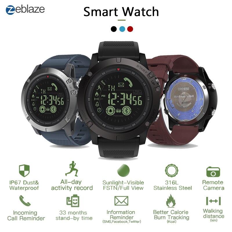 Zeblaze VIBE3 Pro IPS 3D Color Full Touch Display Smart Watch 5ATM IP67 Waterproof Smart Band