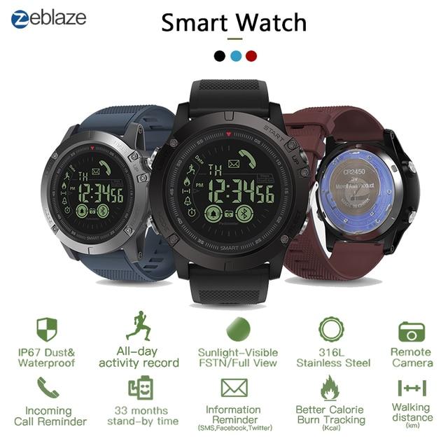 Zeblaze VIBE3 Pro IPS 3D kolor pełny ekran dotykowy Smart Watch 5ATM IP67 wodoodporna inteligentny zespół sportowy zegarek krokomierz tętno