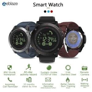 Image 1 - Zeblaze vibe3 pro ips 3d cor display toque completo relógio inteligente 5atm ip67 à prova dip67 água banda inteligente esporte relógio pedômetro freqüência cardíaca