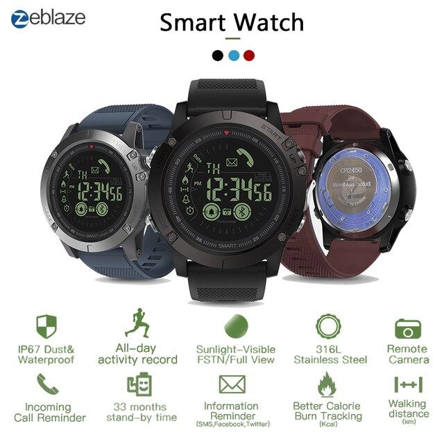 Zeblaze vibe3 pro ips 3d cor display toque completo relógio inteligente 5atm ip67 à prova dip67 água banda inteligente esporte relógio pedômetro freqüência cardíaca
