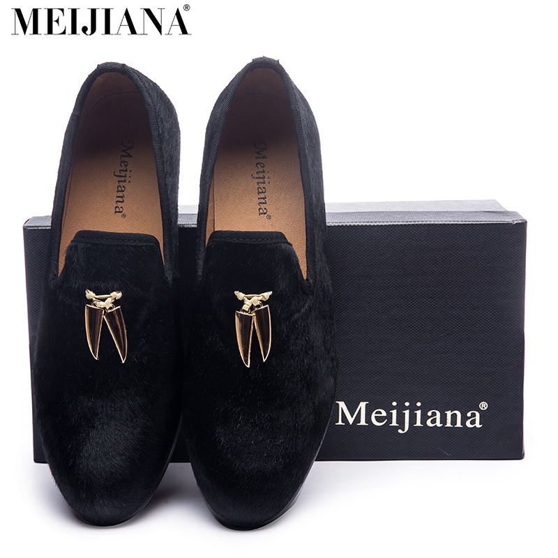 new Gold metal signature Shark Tooth Handmade Men Velvet shoes Men wedding and party Loafers Men  Size US 6-13 new style fashion men loafers gold embroidery handmade men velvet shoes party and wedding men s flat size us 6 14 freeshipping