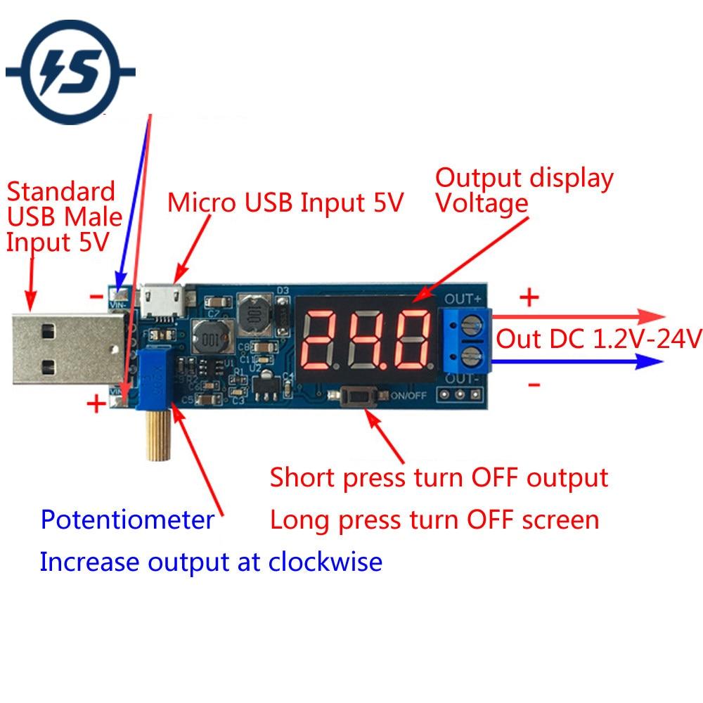 Online Shop 2pcs Dc 5v To 12v Usb Step Up Power Supply Module Dcdc Stepup Converter Circuit 35v Down
