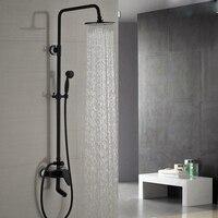 Good Quality Bathroom Brass Shower Mixer Set Single Handle 3 Functions Swivel Tub Shower Faucet Hand