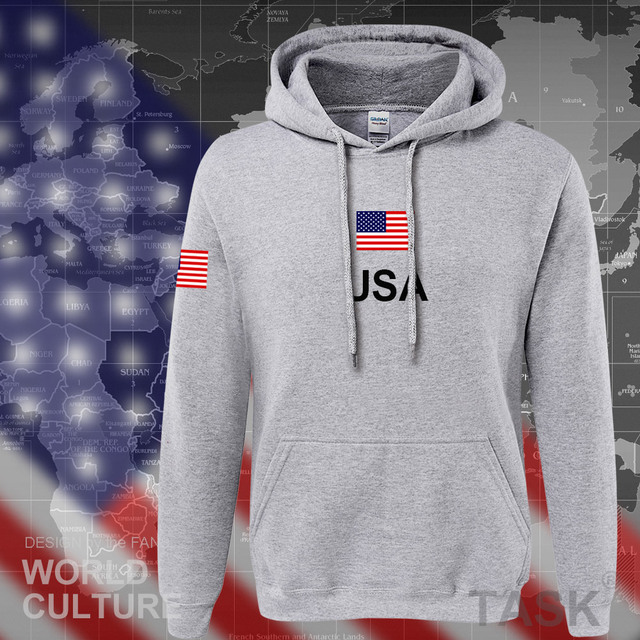 USA United States of America hoodies men 2017 sweatshirt sweat new hip hop streetwear American jerseys tracksuit nation flag US