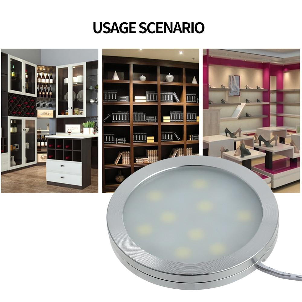 Proster 4 Pcs 12V for 5050 SMD 9 LED Ceiling Dome Light Lamp Bulbs LED Recessed Down Light For Caravan Van Interior Roof Camper