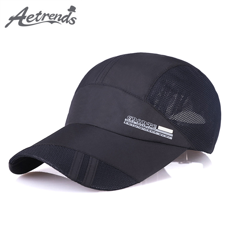[AETRENDS] 2018 New Summer Breathable Mesh Baseball Cap Men or Women Outdoor Sport Hats Snapback Bone Z-6277 cntang brand summer lace hat cotton baseball cap for women breathable mesh girls snapback hip hop fashion female caps adjustable