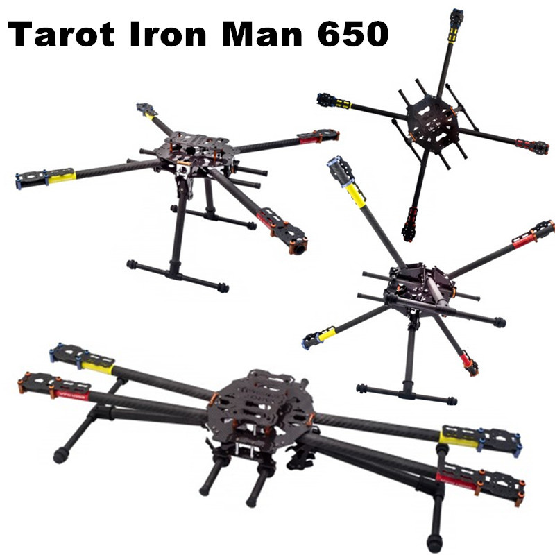 Tarot Iron Man 650 Carbon Fiber Quadcopter Frame,Fully Foldable ...