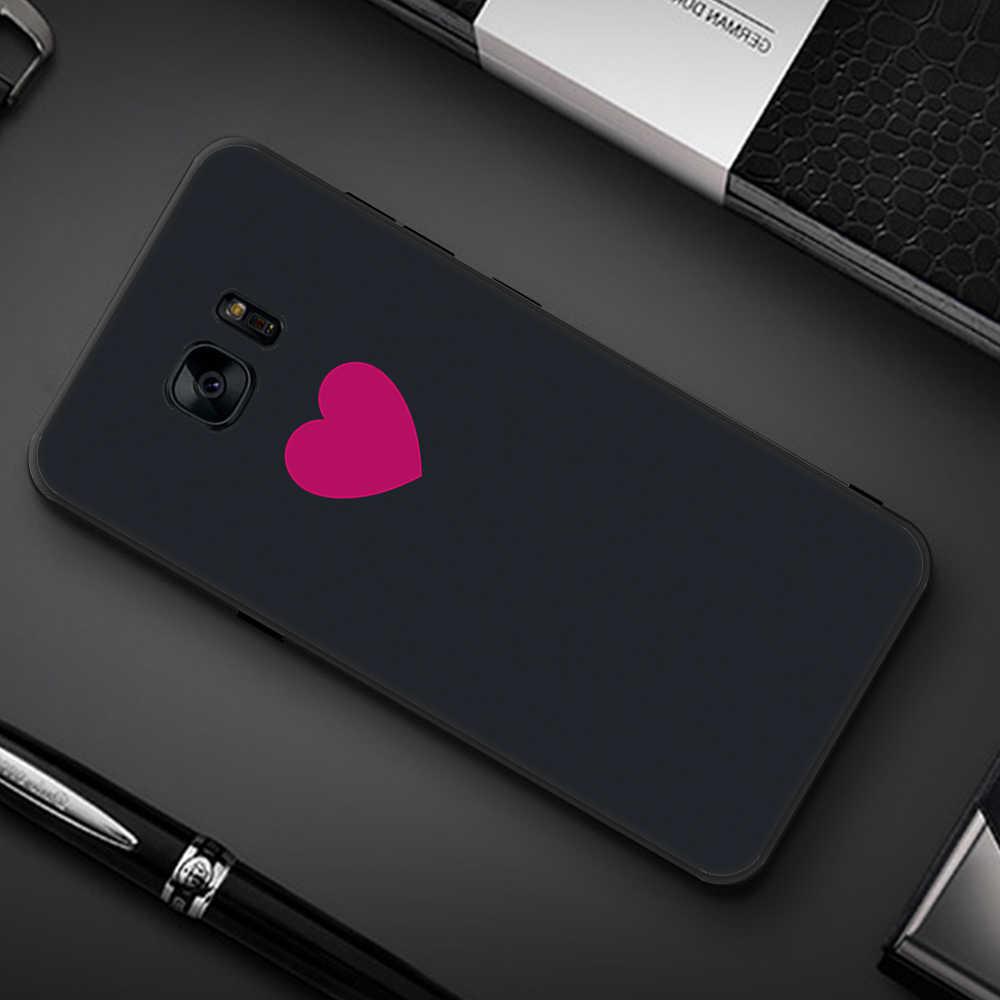 Caso de Telefone de Silicone Para Samsung Galaxy S6 S7 Borda Para Samsung S8 S9 Plus S 9 8 7 6 Plus tampa Do Caso TPU Gato Peixe Funda Coque