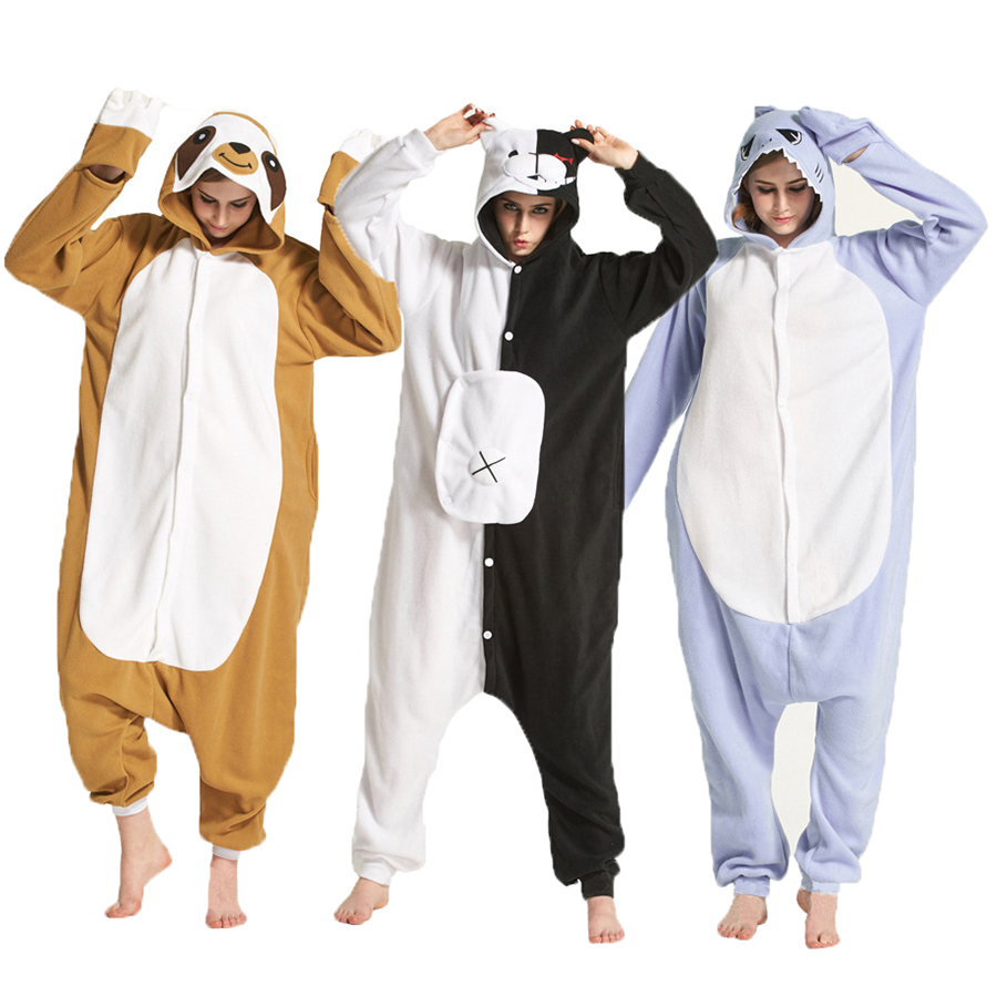 Cartoon Unisex   Pajamas     Set   Animal Kigurumi Onesie Women Men Cosplay Cute Homewear Overall Pijama Adult Teenagers Sleepwear