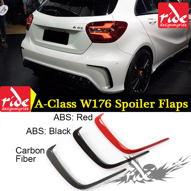 Mercedes A Class W176 A45 AMG Carbon and ABS Rear Bumper Air Vent Molding Trim canards Splitter for Benz W176 AMG Only 2013 2018