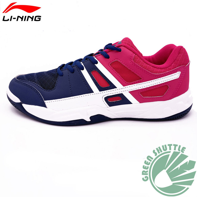 2017 Li-ning 100% Genuine Training Badminton Shoes Light And Comfortable Badminton Sneakers AYTM041
