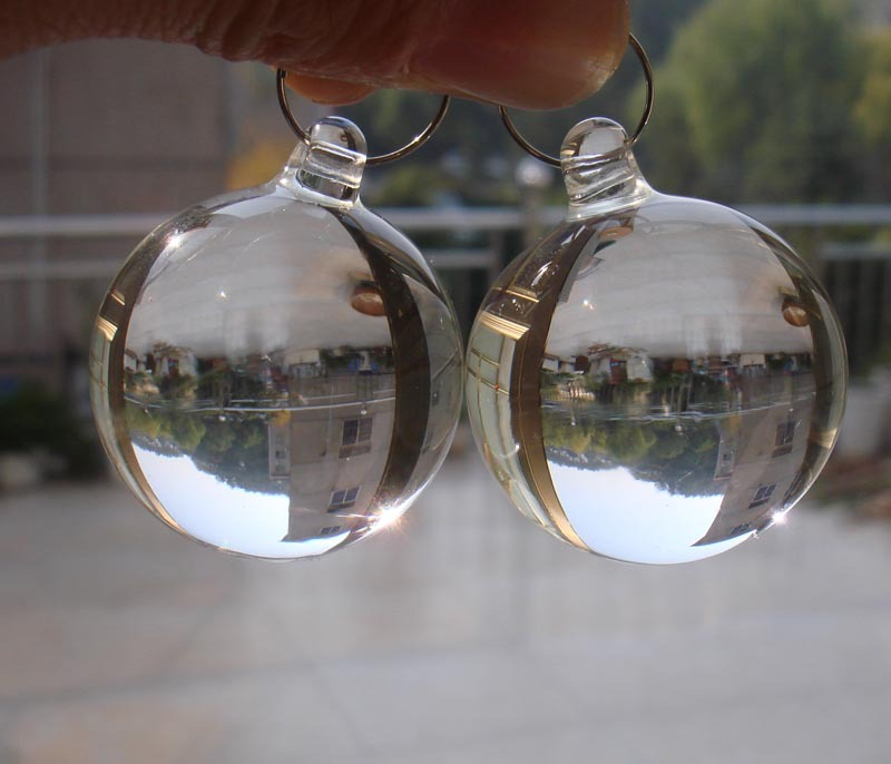 Free shipping,20PCS/lot,20mm transparent color,crystal smooth hanging ball,