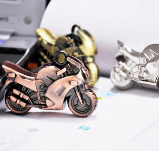 Moto de metal usb, Novo Bronze usb 3.0. memória flash vara pen drive.