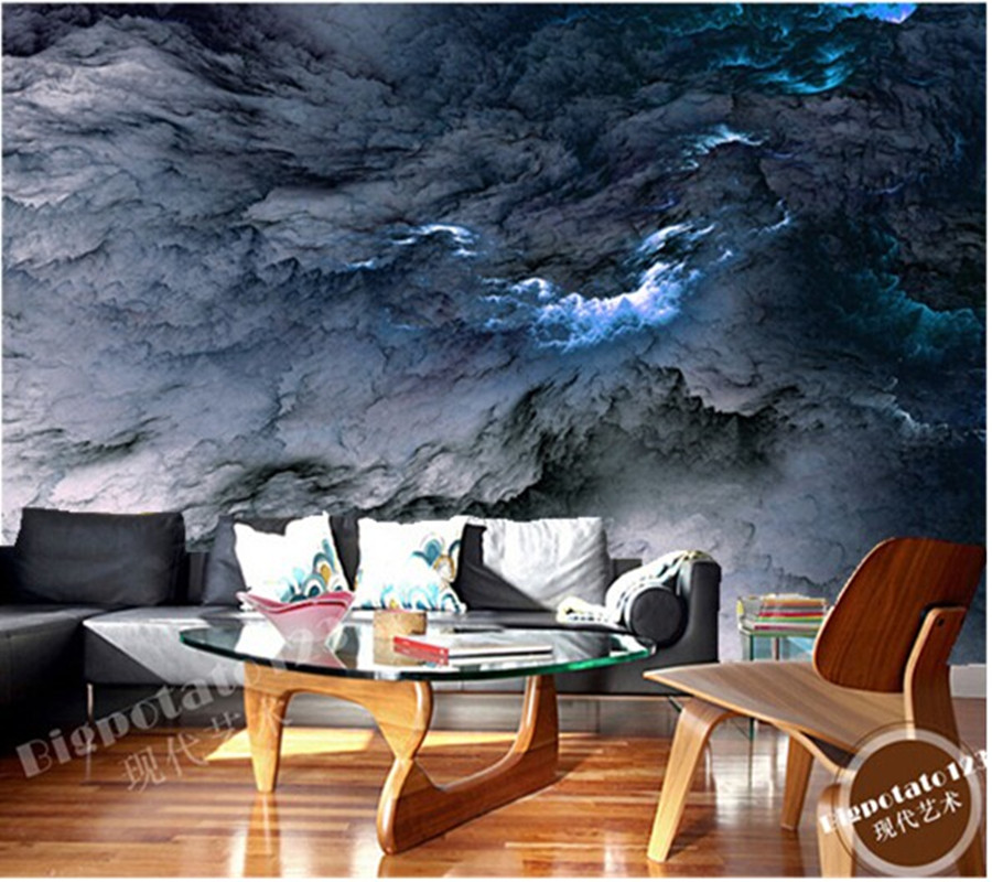 Custom ceiling wallpaper, star Nebula oil painting for bedroom living room ceiling wall waterproof wallpaper papel de parede custom ceiling wallpaper blue sky and white clouds landscape murals for the living room bedroom ceiling wall papel de parede