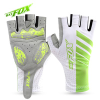 BATFOX Summer Unisex Half Finger Cycling Gloves For Men Women Shockproof Non Slip Bicycle Gloves MTB