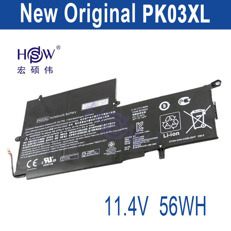HSW New 11.1v 56wh Battery for HP Spectre Pro X360 Spectre 13 PK03XL HSTNN-DB6S 6789116-005 bateria akku