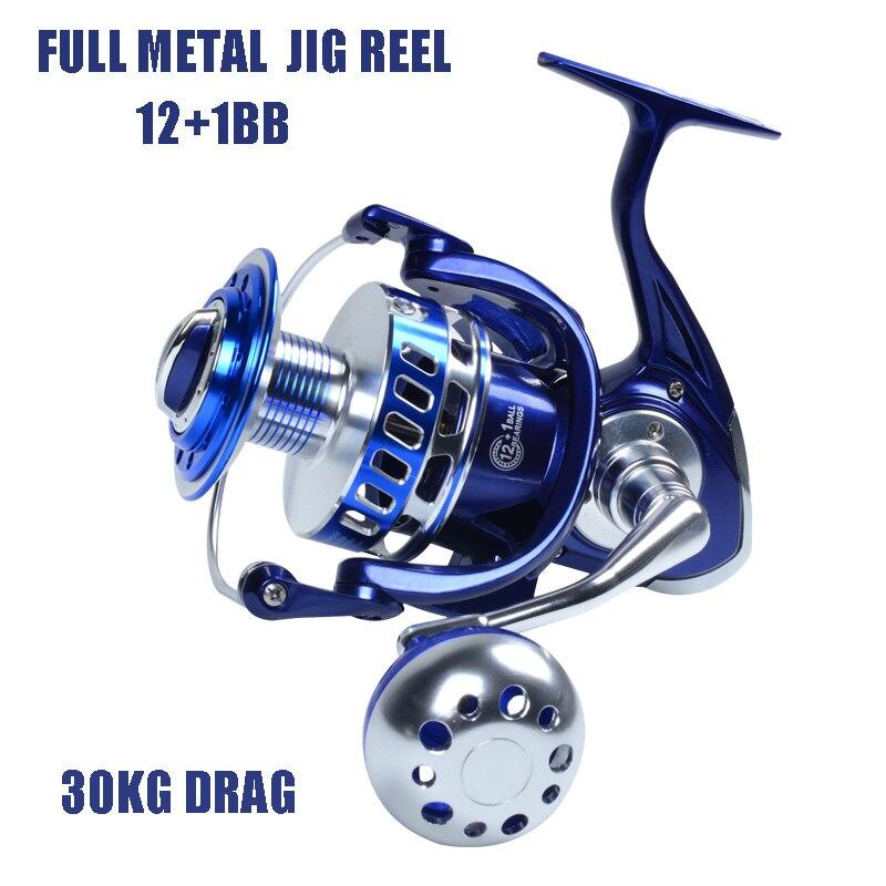 2017 new full metal Spinning Jigging Reel Surf Reel 13BB Alloy reel 35kgs drag power boat reel