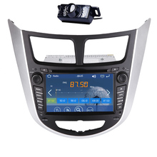 Navigator USB Player Music 3D Stereo Radio GPS Car DVD Player Logo RDS Camera win8 EQ Autoradio Receiver For Hyundai Verna Audio