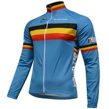 HIRBGOD Men's Spring Long Sleeve Cycling Jersey Belgium National Pro Bicycle Wear-NR242