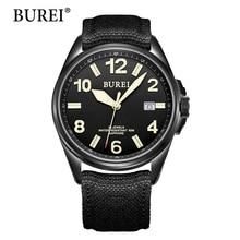 BUREI Top Fashion Mechanical Watches Military Luminous Digital Wrist watch Canvas Male Waterproof Sapphire Automatic Hour Hot