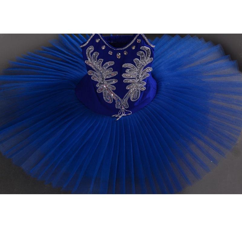 3 цвета, синий, красный, белый детский лебедь, детский балетный костюм танцевальный костюм для сцены, профессиональное балетное платье-пачка для девочек - Цвет: Небесно-голубой