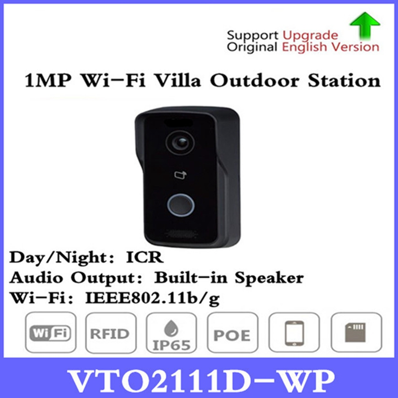DH VTO2111D-WP Video Intercom Doorbell 1MP WiFi Villa Outdoor Station Without Logo Night vision Voice indication VTO2111D-W free shipping dahua door intercom ip villa outdoor station ip54 ik07 night vision without logo vto2000a