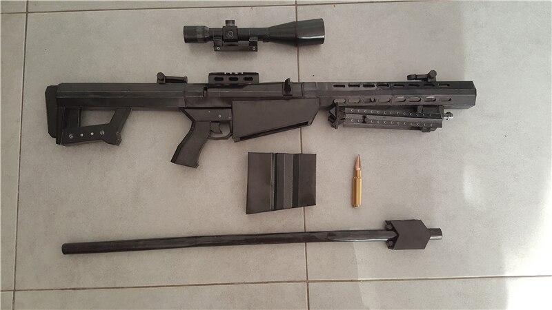 Frete grátis escala 1:1 m82a1 12.7mm sniper