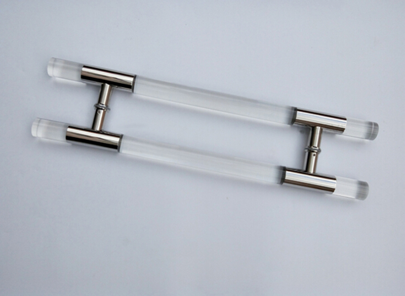 Entrance Door Handle Clear Acrylic Plexiglass Pull Handles 38*600mm For Entry/Front Wooden/Glass/Metal Frame Door HM69 entrance door handle black peach wood bronze pull handles pa 255 38 1000mm for wooden glass metal doors