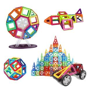 Image 2 - 90 182 قطعة/المجموعة حجم قياسي كبير المغناطيسي نموذج و بنة الطوب مصمم اللعب 16 مجموعات مختلفة للأطفال هدية عيد ميلاد