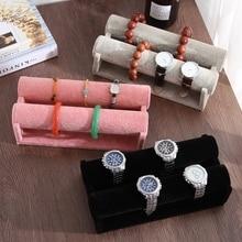 Flannel Bracelet Display Rack Bracelet Holder Jewelry Display Stand Watch Bangle Bar Necklace  Organizer Velvet Leather T-Bar