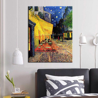 Free Shipping Vincent Van Gogh Oil Painting On Canvas Cafe Terrace On The Place Du Forum