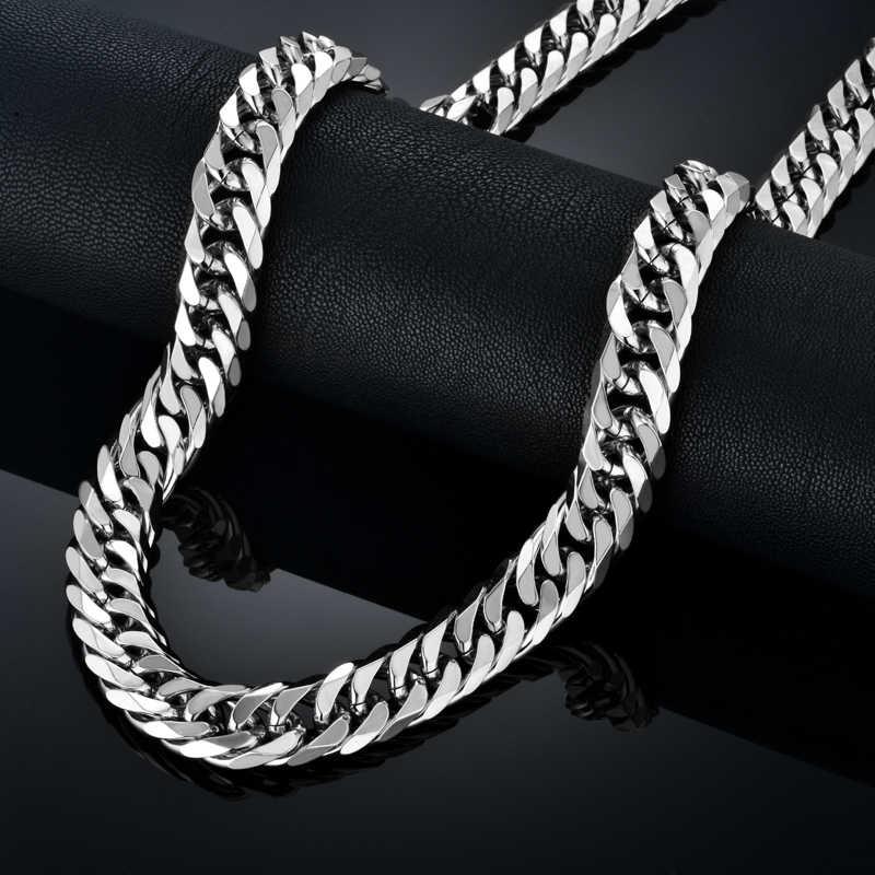 Hip Hop Stil 14 MM Kubanischen Kette Halskette & Armband Set Für Männer Geschenk Großhandel African Dubai Gold Edelstahl schmuck Sets