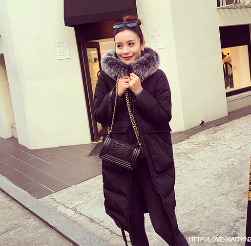 Hot sale 2016 fashion women coat Winter Coat Women's Ultra Long cotton Jacket Women Parka with Fur Hooded plus size xl-5xl
