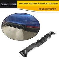 Car Styling Carbon Fiber Auto Rear Diffuser Lip Spoiler For BMW F32 F33 F36 M Sport 13 17 P Style