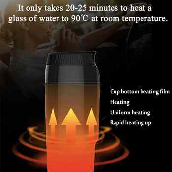 12V 350ml Portable Travel Car Electric Heating Cup Heating Water Kettle Coffee Tea Milk Heated Soaked Noodles Boiler Sonifer