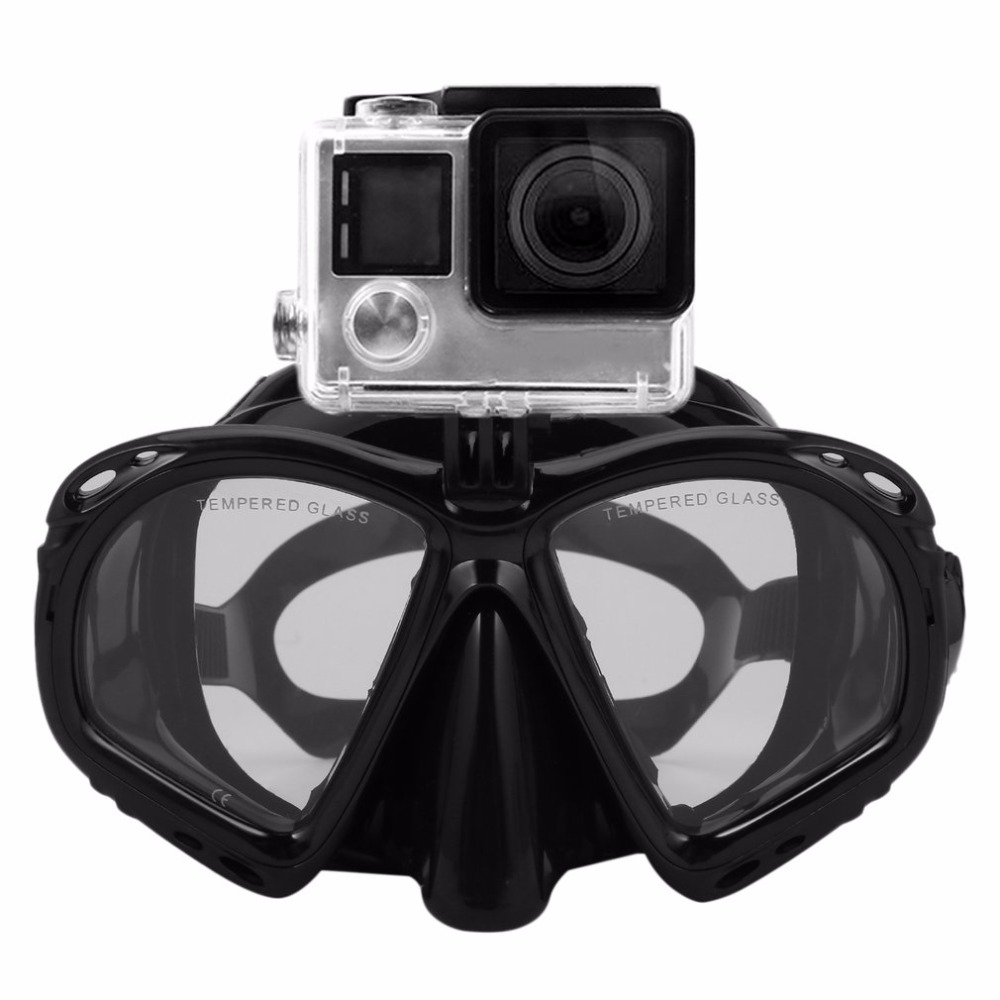 Professional Waterproof Underwater Diving Mask Scuba Snorkel Swimming Goggles Scuba Diving Equipement Suitable For Sport Camera цены