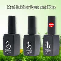 Manicure 12ml Gel Varnish No wipe Top Coat Nail Rubber Base Coat For Nail Art Desgin UV Led Natural Nude Gel Nail Polish Primer