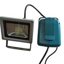 TPFOCUS USB зарядное устройство адаптер конвертер+ 10 Вт Светодиодный светильник для MAKITA 18 в инструменты ADP05 14,4 В литиевая батарея светильник