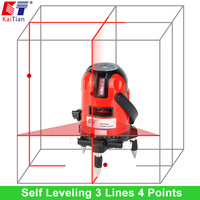 KaiTian Laser Level 635nM Cross Line Laser With 360 Rotary Tilt Function Outdoor EU 3 Lines