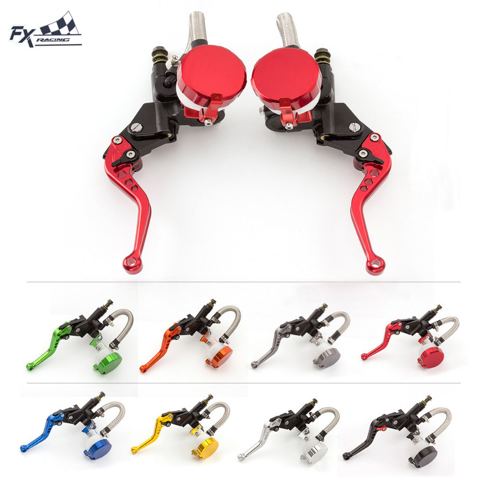 125CC - 600CC Motorcycle Hydraulic Brake Clutch Master Cylinder Levers For Sport Bike Street Bike Scooter Dirt Bike With 22mm 1200mm blue hydraulic foldable clutch levers master slave cylinder fit motorcycle dirt bike 125cc 140cc 250cc vertical engine