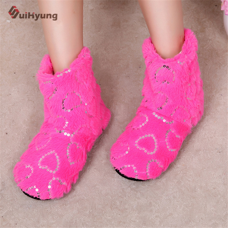 Winter New Women's Cartoon Cotton Slippers Cute Stitch Indoor Shoes Plush Warm Soft Bottom Non-slip Home Floor Slippers new 2017 house shoes cute happy big feet style giant toe footwear winter warm plush slippers soft unisex indoor shoes