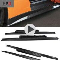 Автомобиль Стайлинг для R35 GTR GT R углеродного волокна ZE Стиль сбоку юбка Глянцевая Fibre Зеле дверь кузова Комплект Гонки авто аксессуары отдел