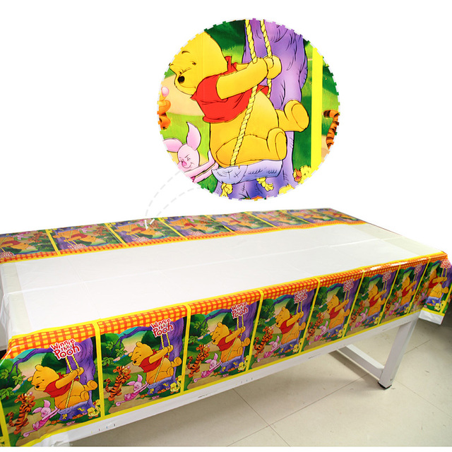 1pc Winnie The Pooh Theme Tablecloths Baby Shower Party Supplies